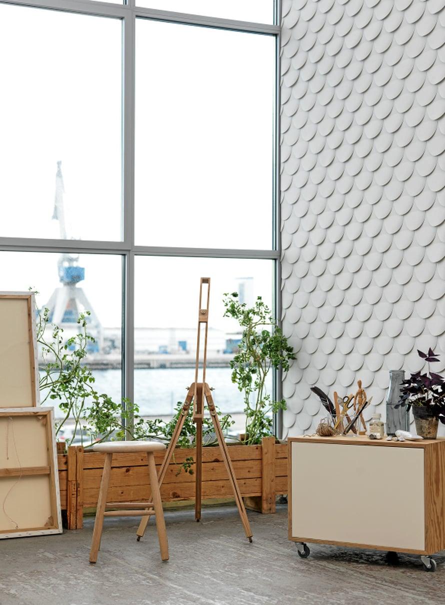 Arches-tapetti kuuluu ruotsalaisen Front-suunnittelijakolmikon Ecolle luomaan mallistoon, 62 e/rll, K-Rauta.