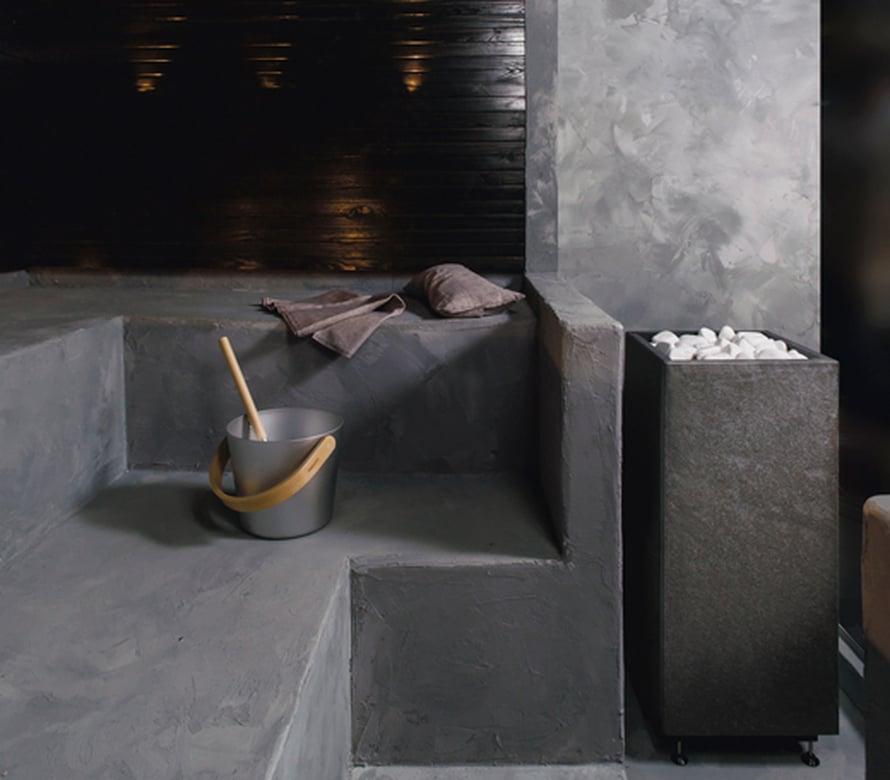 <p><p>Betoni on muodikas kaikkialla. Rae-kiukaan kaveriksi sopii aivan loistavasti betoninen meininki. Kuva: Tulikivi</p></p>