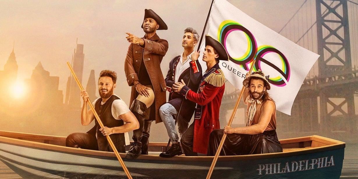 Queer Eye -sarjan tähdet. Vasemmalta Bobby, Karamo, Tan, Antoni ja Jonathan.