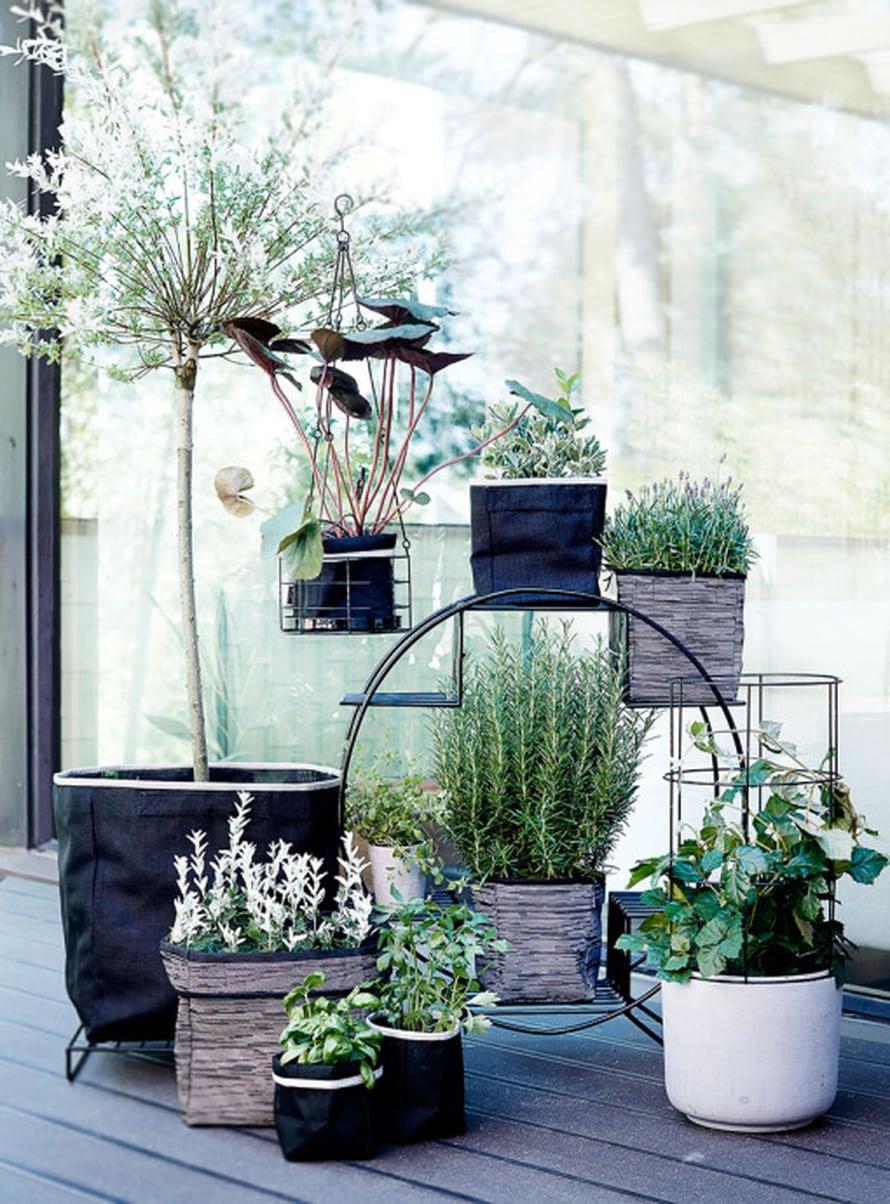 """Luhta Homen Garden -malliston metallisessa amppelissa on ajaton muotokieli, 19,95&nbsp;e, <a href=""""http://www.citymarket.fi"""">Citymarket</a>"""