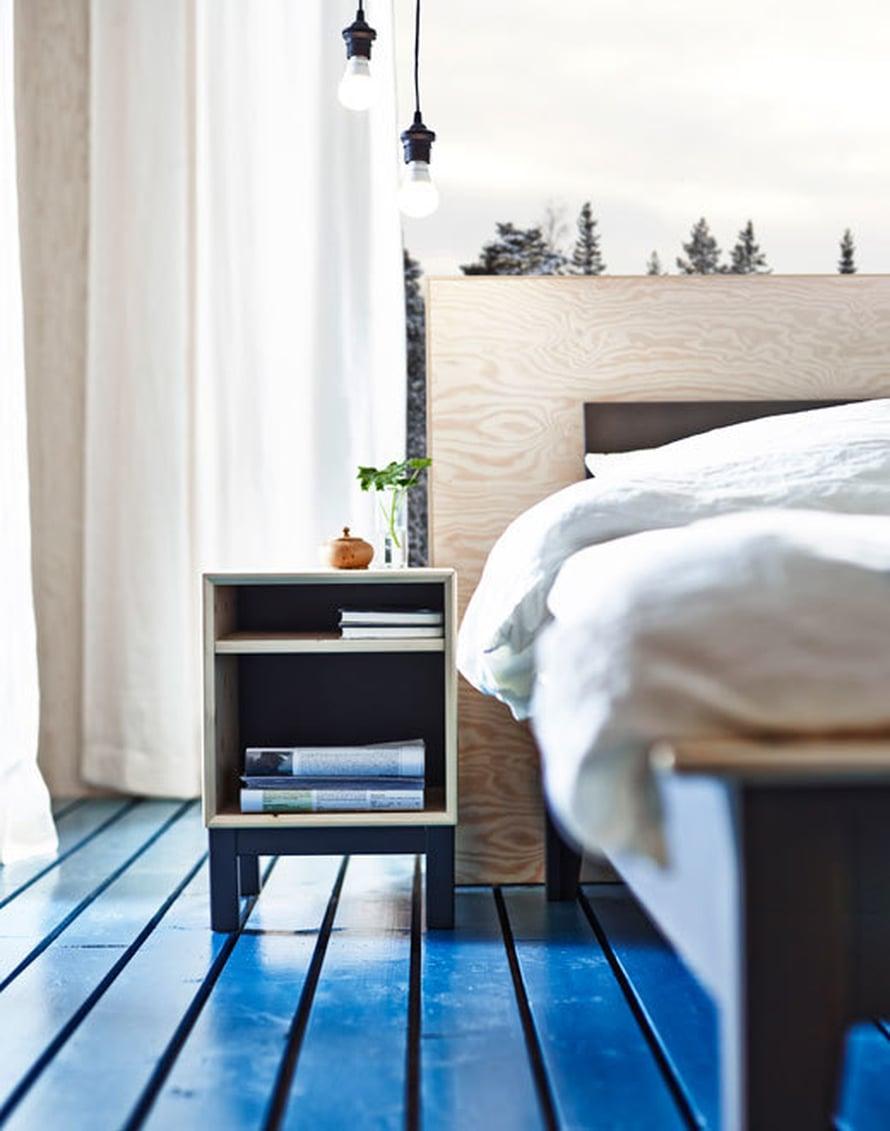 <p><p>Uskaltaisitko maalata lattian siniseksi? Kuva: Ikea</p></p>