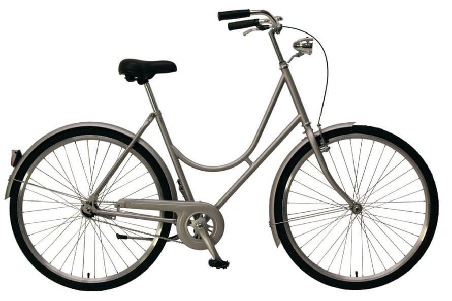 Katu-uskottava polkupyörä on betoninsävyinen klassikko, 240 e, Granit.