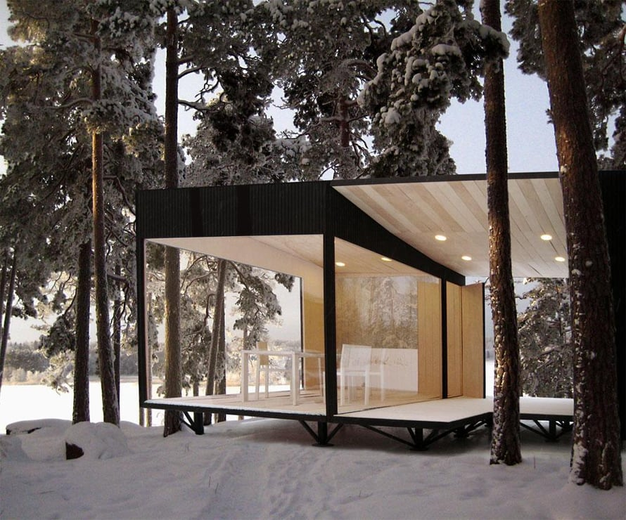 Maja on suomalais-japanilaisen suunnittelijan Naoto Niidomen kevytrakenteinen valmismökkikonsepti. Majat valmistetaan alusta loppuun Ähtärissä, koya.fi.