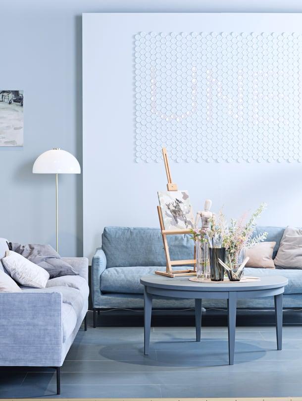 Glorian Kodin Habitare-osaston suunnitteli lehden sisustustoimittaja Anna-Kaisa Melvas. Luca-sohvat ovat Interfacen.
