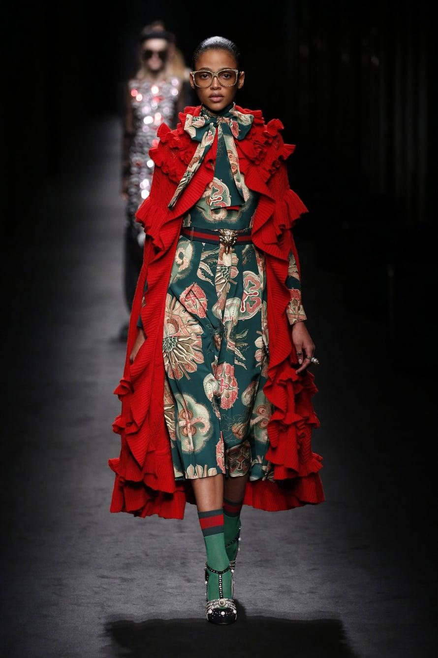 Michele Alessandro on nostanut Guccin uuteen nousuun. Mallistot eivät ole koherenteimmasta päästä, mutta ihanan näyttävän kreisejä ne kyllä ovat.