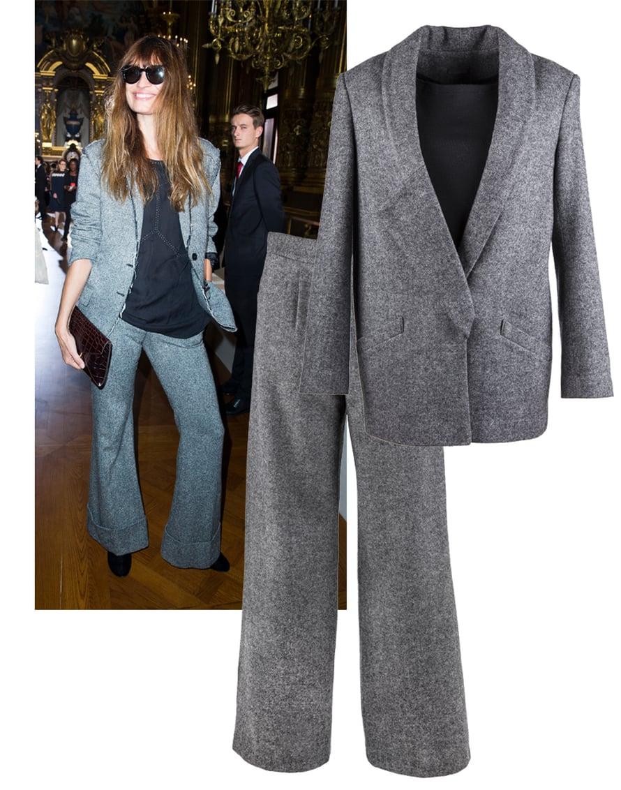 Whitetailin takki, 390 e ja housut, 350 e luovat tyylikkään väljän kokonaisuuden.