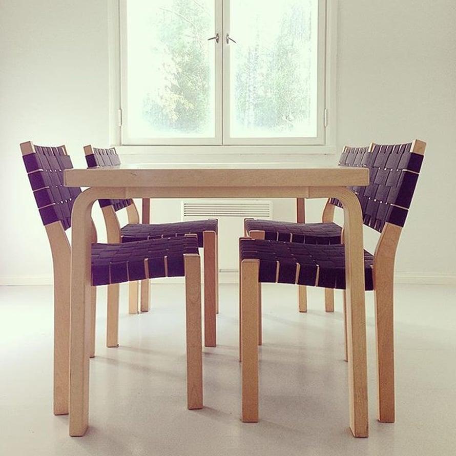 @katisarita on saanut istua keittiössä Artekin klassikkopöydän ääressä jo vuosia.