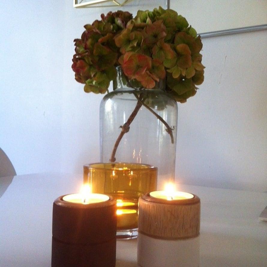 @laulait yhdistää hortensiat ja kynttilät - syksyn tunnelmantekijät.