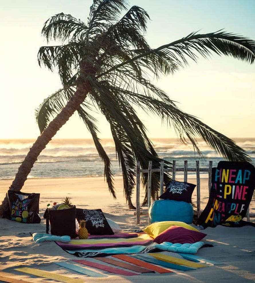 <p><p>Ai että, palmujen katveessa ja lämpimän merituulen syleilyssä nukuttaa makeasti! Kuva: H&M Home</p></p>