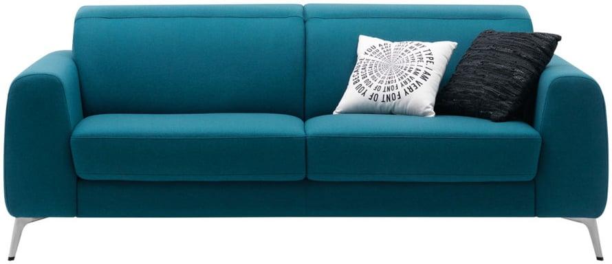 Linjakkaasta Madison-sohvasta ei ulkonäön perusteella arvaisi, että se on vuodesohva, leveys 210 cm, avattuna 140 x 195 cm, 2081 e, Boconcept.fi. Sopivat koristetyynyjen värit: harmaa, tummansininen, valkoinen, sitruunankeltainen.