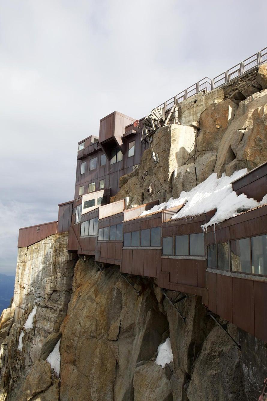 Aiguille du Midin köysirata valmistui 1950-luvulla.