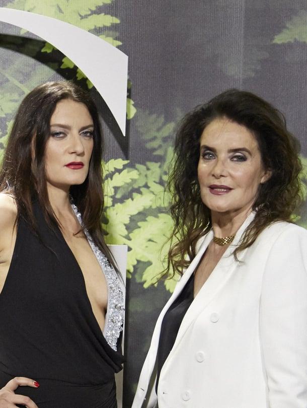 Kaarina Kivilahti saapui Glorian näytökseen yhdessä tyttärensä Karina Kivilahden kanssa.
