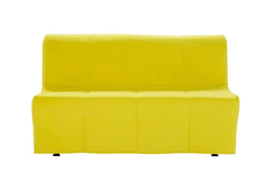 Simppeli Lycksele Murbo -sohva, avattuna 140 x 188 cm, on kuin tehty teinien huoneeseen. Irtohuppua vaihtamalla sohvan ulkonäköä on helppo muunnella, 320 e, Ikea.fi. Sopivat tyynyjen värit: pastellit, vihreä, harmaa.