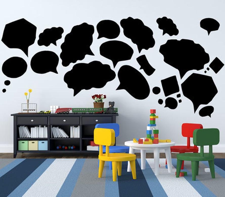 """<p><p>Nyt saa kirjoittaa seinään, muksut! Riippuu pilttien iästä, pääseekö äidiltä itku vai nauru lasten kommentteja lukiessaan... Kuva: <span class=""""photographer"""">Art4u.fi.</p></p></span>"""